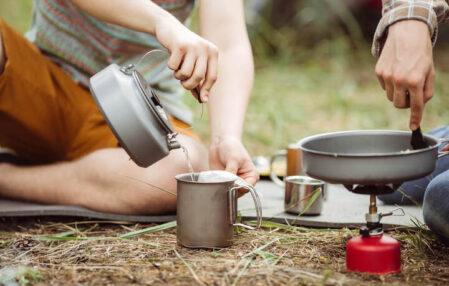 cocinando en el campo